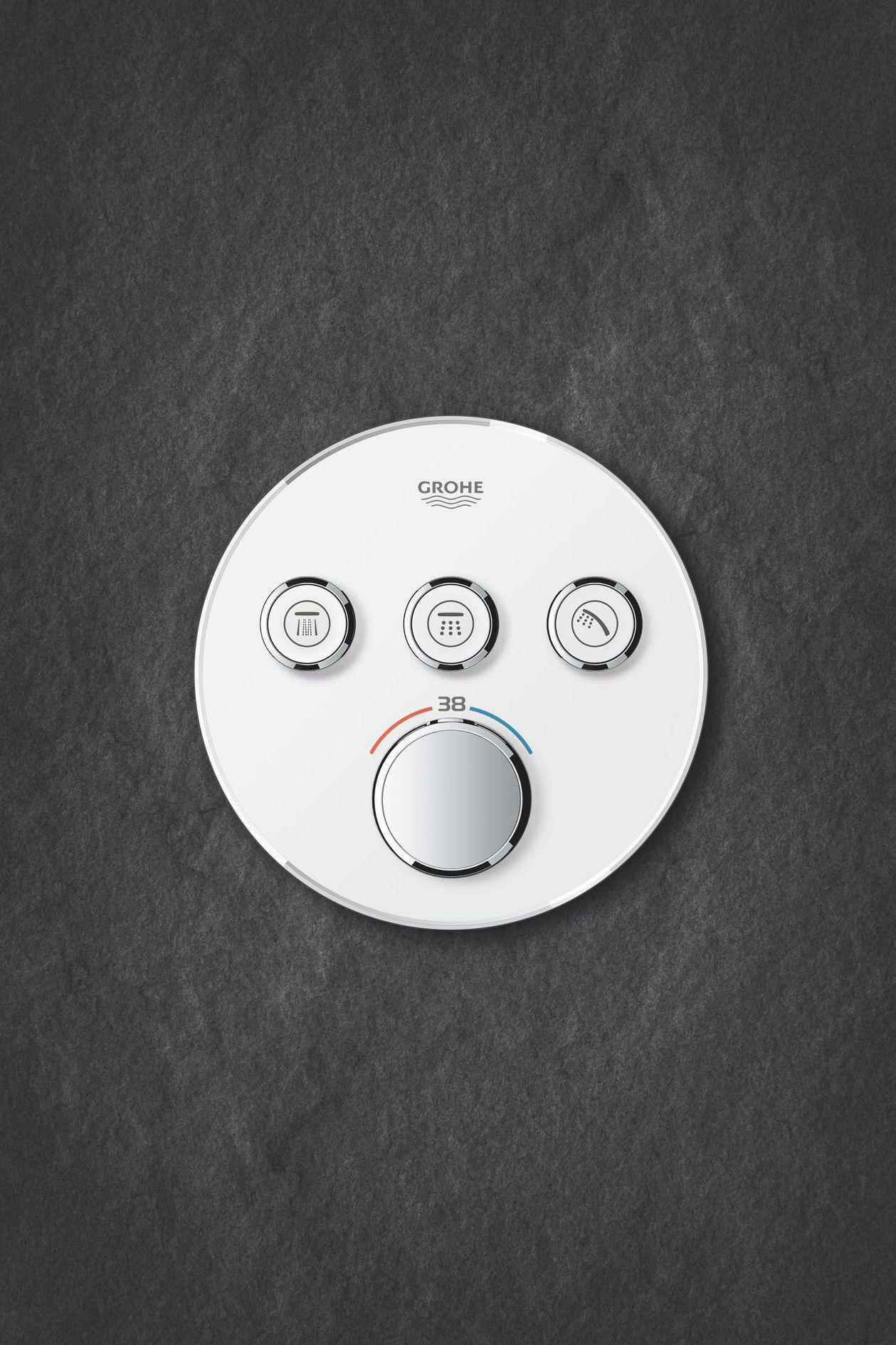 Full Size of Grohe Thermostat Dusche Grohtherm Smartcontrol 43 Mm Pendeltür Bodenebene Mischbatterie Hüppe Bodengleiche Duschen Fliesen Badewanne Mit Tür Und Walk In Dusche Grohe Thermostat Dusche