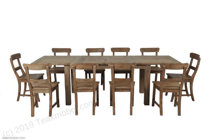 Medium Size of Teak Esstisch Ausziehbar 160 210 260x90 10 Sthle Teakmbelcom Musterring Esstischstühle Und Stühle Massiv Shabby Akazie Chic Ausziehbarer 2m Esstische Holz Esstische Stühle Esstisch