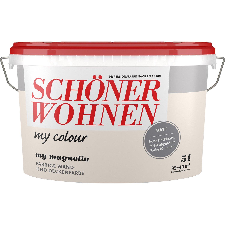 Full Size of Schner Wohnen My Colour Magnolia Matt 5 L Kaufen Bei Obi Wohnzimmer Magnolia Farbe