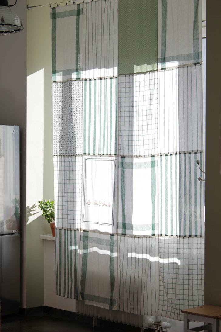 Medium Size of Küchenvorhänge Do Diy Kchenvorhang Aus Geschirrtchern Wohnzimmer Küchenvorhänge