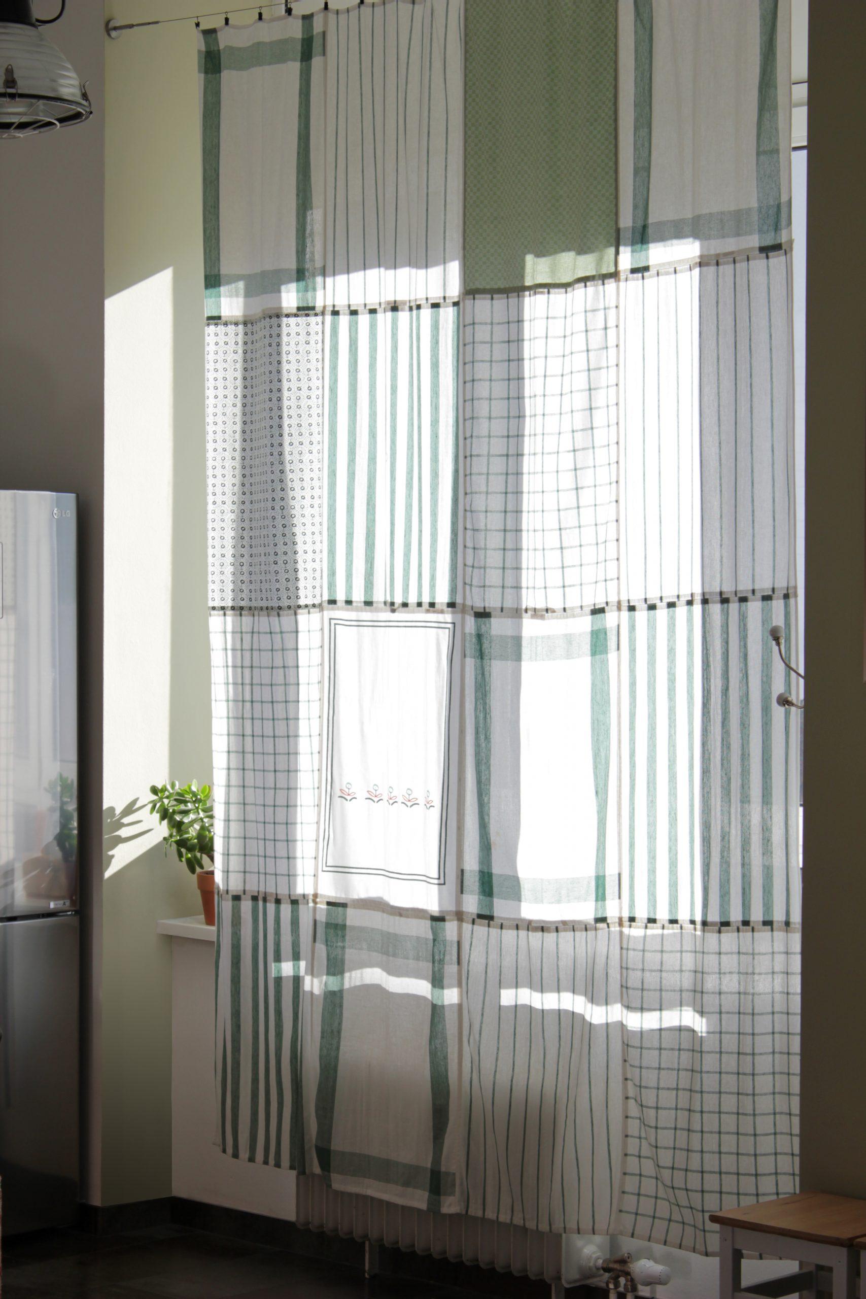 Full Size of Küchenvorhänge Do Diy Kchenvorhang Aus Geschirrtchern Wohnzimmer Küchenvorhänge