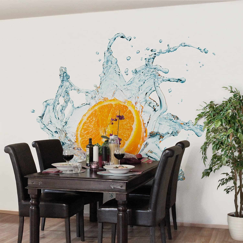 Full Size of Küchentapete Apalis Vliestapete Kchentapete Frische Orange Fototapete Quadrat Wohnzimmer Küchentapete