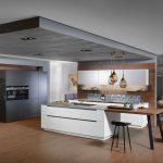 Winkel Küche Abfalleimer Beistelltisch Mit Insel Hängeschrank Glastüren Einbauküche Weiss Hochglanz Ausstellungsküche Led Panel Gebrauchte Wohnzimmer Küche