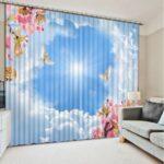 Schlafzimmer Vorhang Blauen Himmel Weie Wolken Tapeten Für Die Küche Spiegelschränke Fürs Bad Sichtschutzfolie Fenster Regal Weiß Getränkekisten Kinderzimmer Vorhänge Für Kinderzimmer
