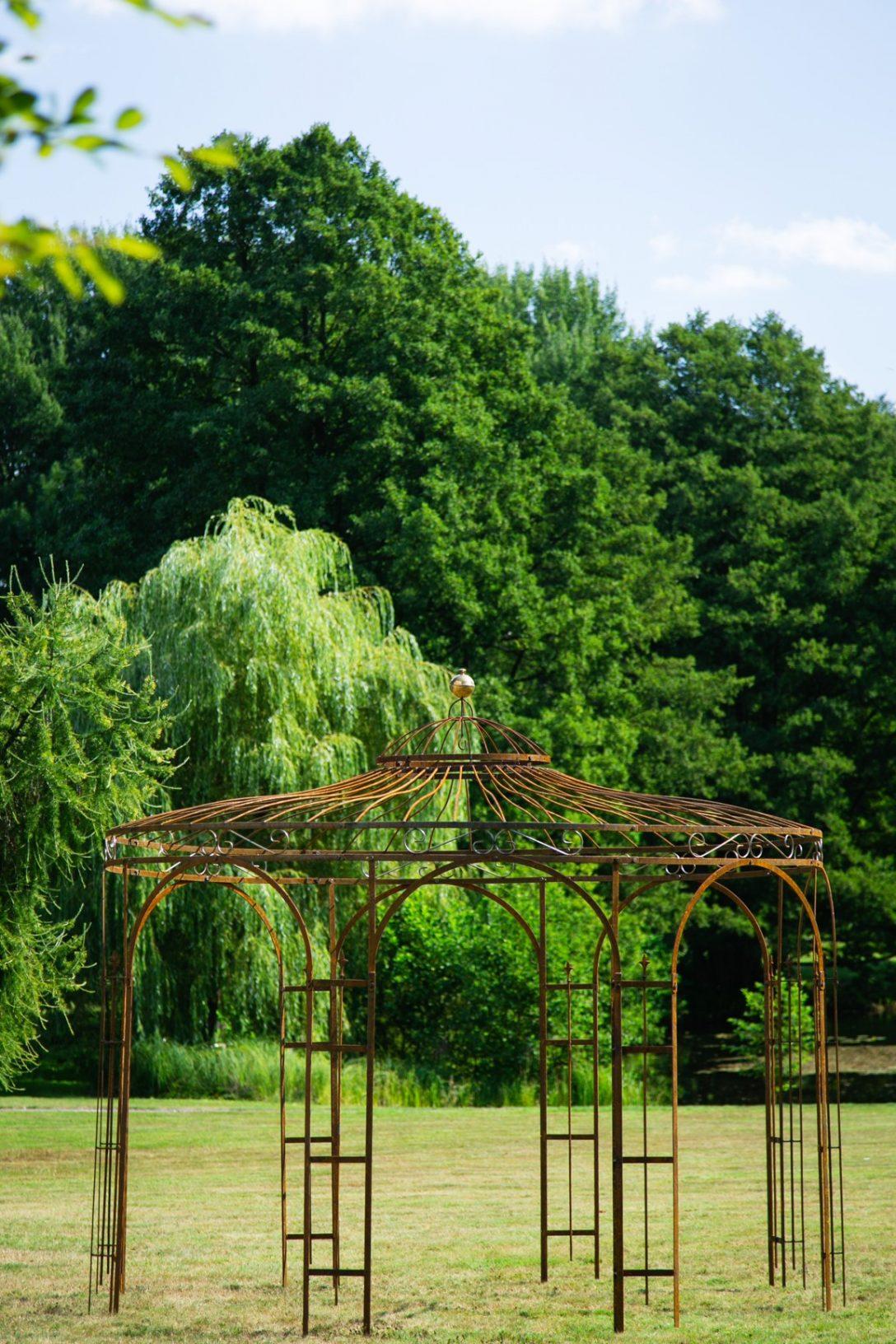 Large Size of Gartenpavillon Metall Rost 250cm Eleganz Bett Regal Weiß Regale Wohnzimmer Gartenpavillon Metall