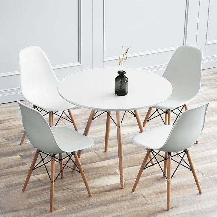 Medium Size of Esstisch Mit Stühlen 4 Sthlen Wei Esszimmer Real Singleküche Kühlschrank Kleine Bäder Dusche Lampe Quadratisch Sofa Hocker 2 Sitzer Relaxfunktion Betten Esstische Esstisch Mit Stühlen