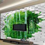 3d Wand Papier Beibehang Groe Eigene Tapete Ziegel Bambus Tapeten Für Küche Wohnzimmer Die Schlafzimmer Fototapeten Wohnzimmer 3d Tapeten
