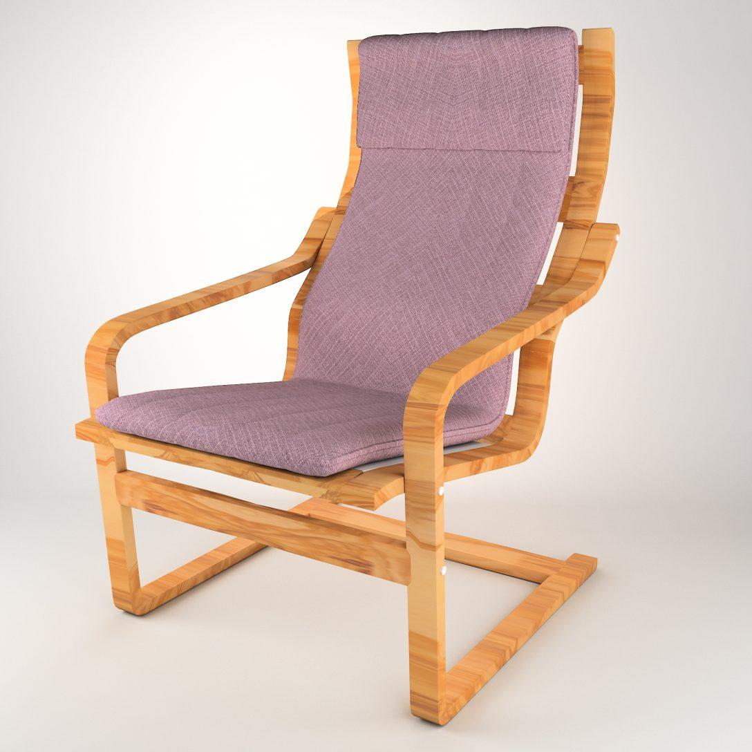 Large Size of Ikea Liegestuhl Poang 3d Modell Turbosquid 1246751 Garten Küche Kosten Modulküche Kaufen Sofa Mit Schlaffunktion Miniküche Betten 160x200 Bei Wohnzimmer Ikea Liegestuhl