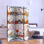 Raumteiler Kinderzimmer Kinderzimmer Deko Paravent Fr Kind Raumteiler Kinderzimmer Trennwand Spanische Regal Regale Sofa Weiß