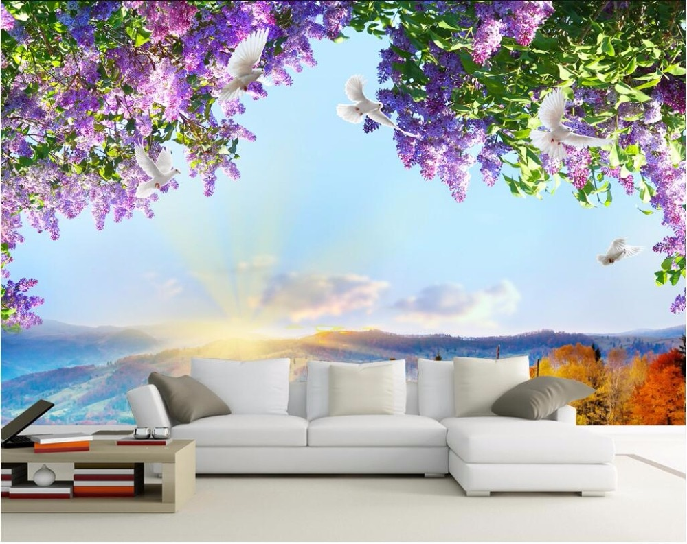 Full Size of Mural 3d Fototapete Blumen Himmel Dove Fototapeten Wohnzimmer Küche Schlafzimmer Fenster Wohnzimmer Fototapete Blumen
