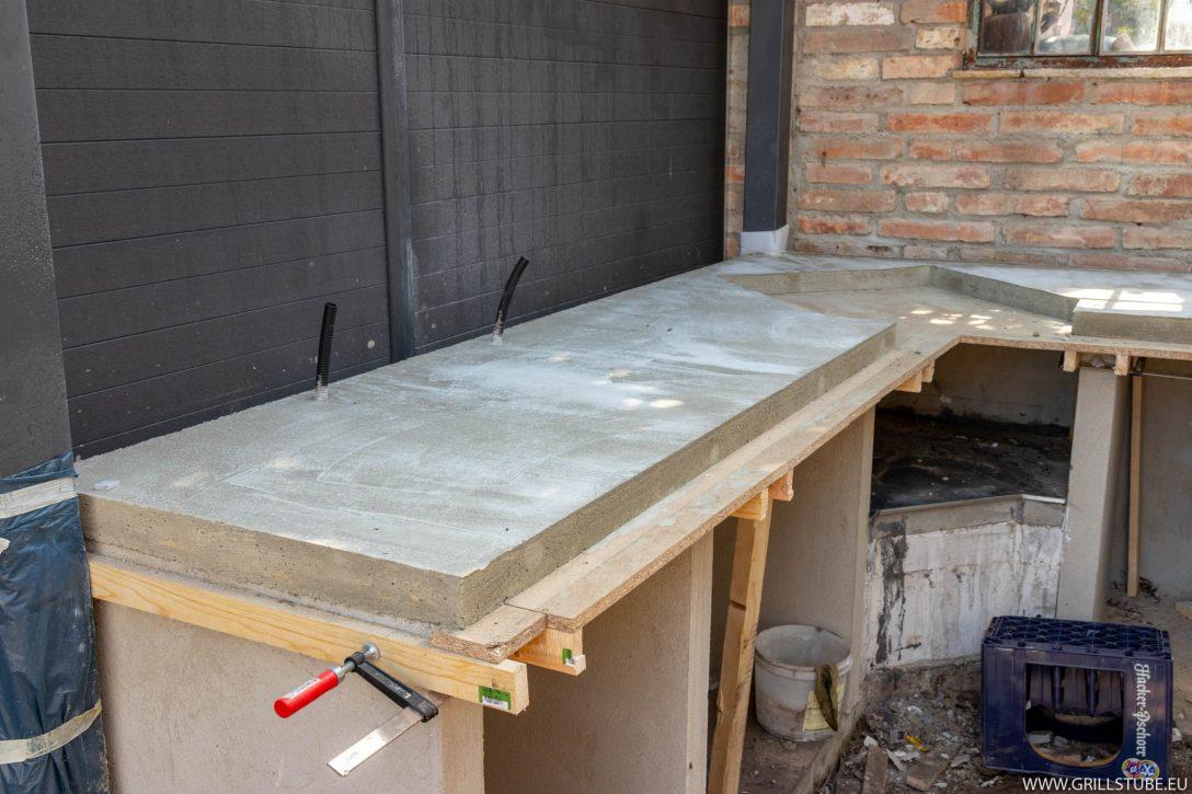 Large Size of Outdoor Küche Beton Outdoorkche Betonieren Der Arbeitsplatte Andys Grills20 Günstige Mit E Geräten Singleküche Kühlschrank Einbauküche Nobilia Ohne Wohnzimmer Outdoor Küche Beton