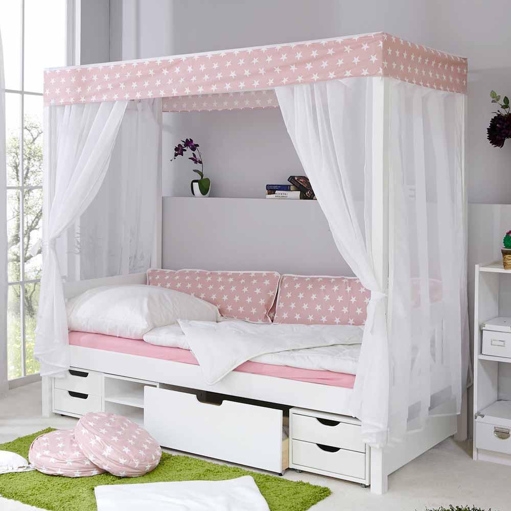 Full Size of Mdchen Bett Rodysa In Wei Rosa Pharao24de Mädchen Betten Wohnzimmer Kinderbett Mädchen