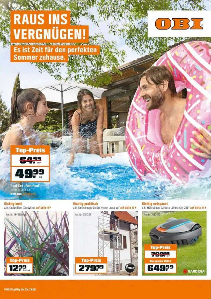Medium Size of Obi Pool Aktuelles Prospekt 562019 1562019 Rabatt Kompass Whirlpool Garten Aufblasbar Guenstig Kaufen Einbauküche Nobilia Swimmingpool Immobilienmakler Baden Wohnzimmer Obi Pool