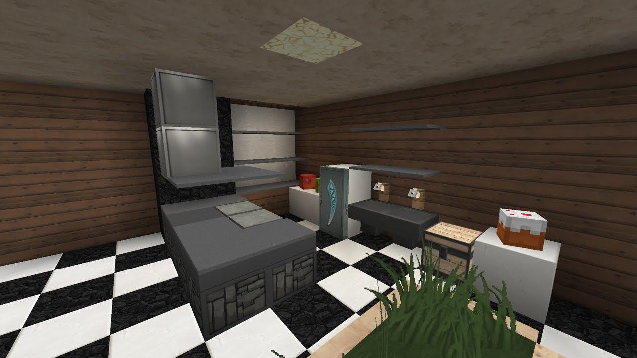 Full Size of Minecraft Küche Moderne Kche Design Tutorial Youtube Fliesenspiegel Selber Machen Industrie Sideboard Mit Arbeitsplatte Teppich Für Landhaus Vinylboden Rosa Wohnzimmer Minecraft Küche