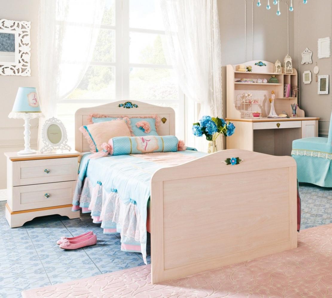 Full Size of Kinderbett 120x200 Cilek Flora Mit Hbschem Blumendekor Bett Weiß Matratze Und Lattenrost Betten Bettkasten Wohnzimmer Kinderbett 120x200