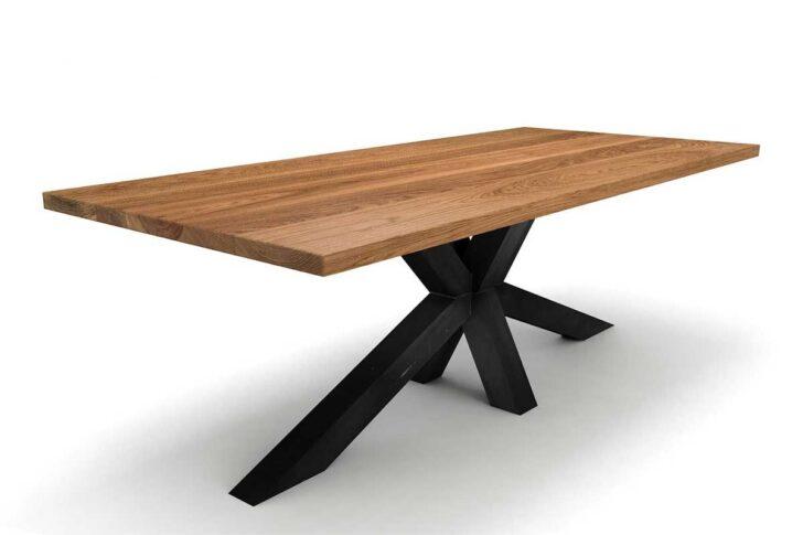 Medium Size of Esstische Mittelfu Esstisch Holz Massiv Eiche 4cm Massivholz Runde Designer Ausziehbar Moderne Design Rund Kleine Esstische Esstische
