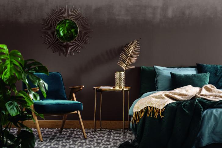 Medium Size of Wandgestaltung Farbe Wohnzimmer Streifen Ideen Holz Stein Bilder Mit Bildern Beispiele Landhausstil Schokobraune Wandfarbe Und Wie Man Sie Kombiniert Deko Wohnzimmer Wandgestaltung Wohnzimmer