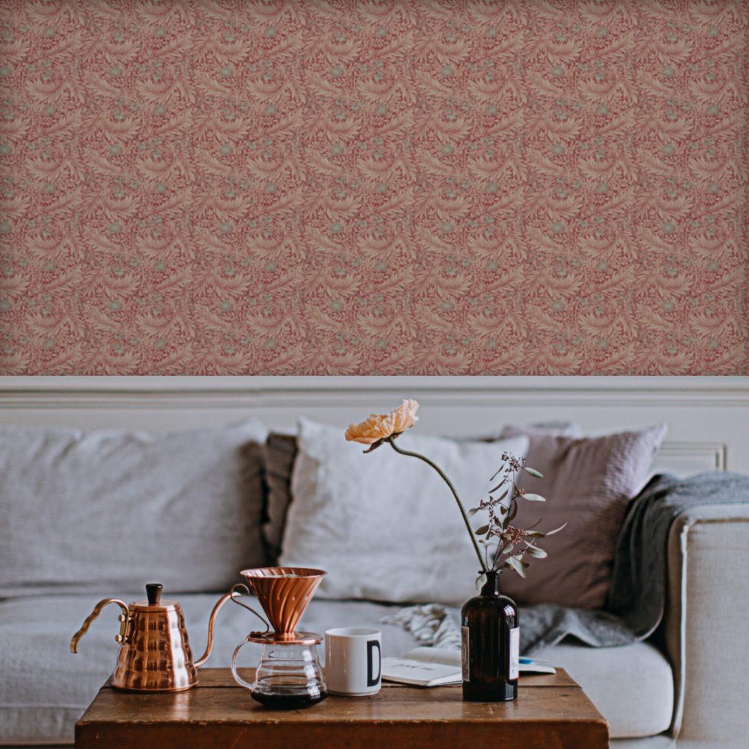 Large Size of Küchentapete Jugendstil Tapete Dlice Florale Nach William Morris Wohnzimmer Küchentapete