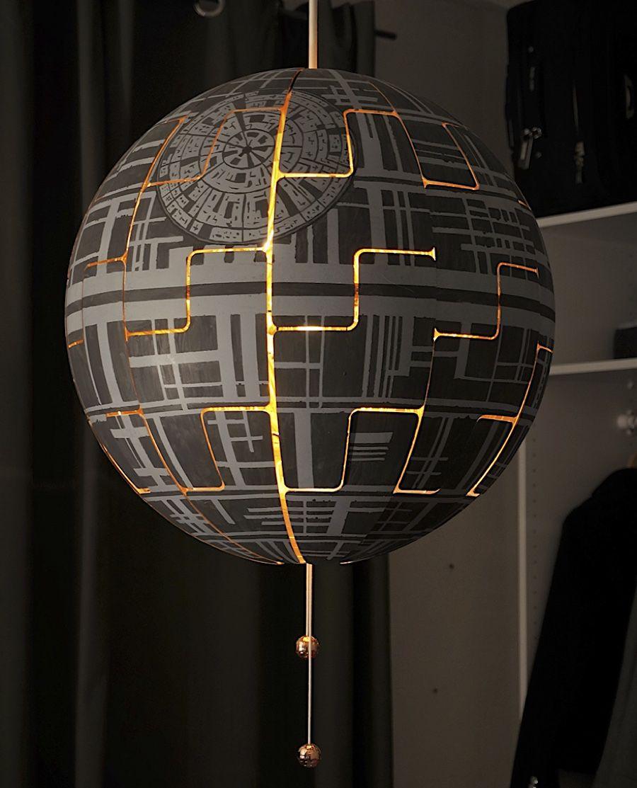 Full Size of Ikea Lampen Lylelo Gestaltet Eine Lampe In Den Todesstern Um Star Wars Küche Miniküche Sofa Mit Schlaffunktion Deckenlampen Wohnzimmer Modern Betten Bei Bad Wohnzimmer Ikea Lampen