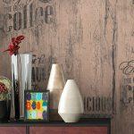 Küche Tapete Papiertapete Braun Caf Aufschrift Alte Werbung Kche Ikea Kosten Holzregal Landhausküche Grau Wasserhahn Pino Günstige Mit E Geräten Wohnzimmer Küche Tapete