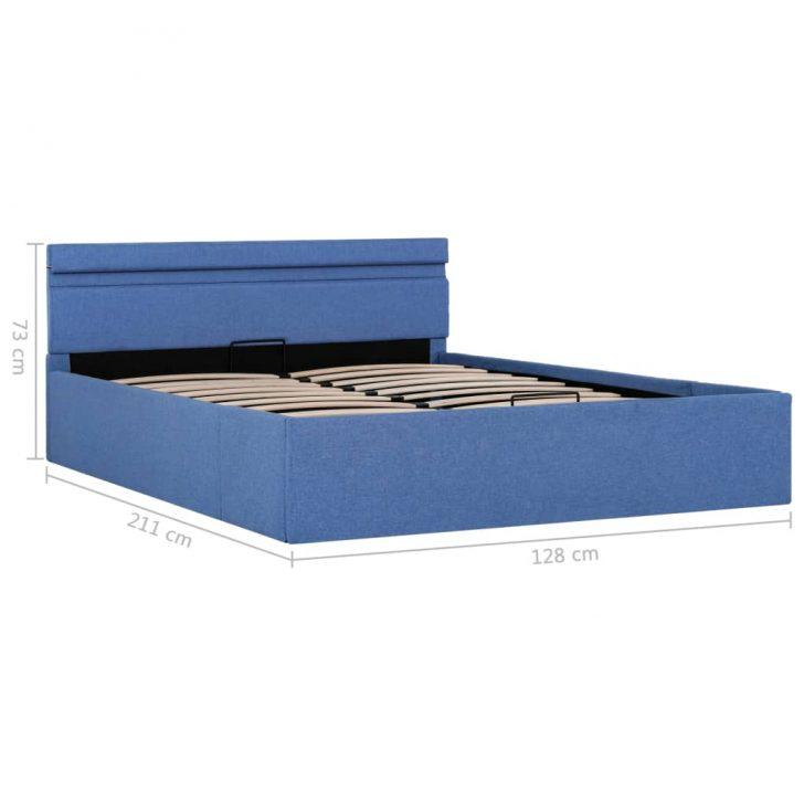 Medium Size of Vidaxl Stauraumbett Hydraulisch Mit Led Blau Stoff 120 200 Cm Bett 120x200 Matratze Und Lattenrost Weiß Bettkasten Betten Wohnzimmer Stauraumbett 120x200