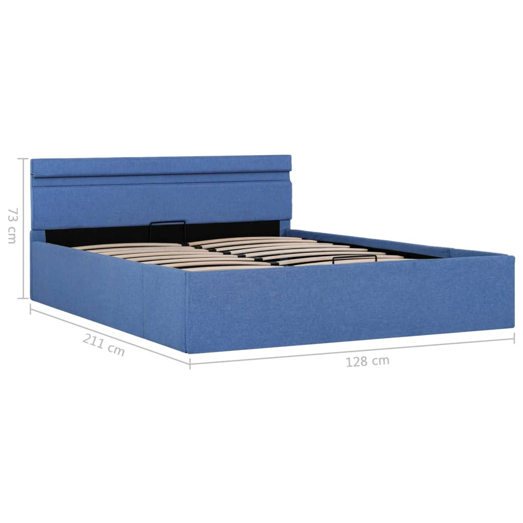 Full Size of Vidaxl Stauraumbett Hydraulisch Mit Led Blau Stoff 120 200 Cm Bett 120x200 Matratze Und Lattenrost Weiß Bettkasten Betten Wohnzimmer Stauraumbett 120x200