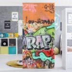 Raumteiler Kinderzimmer Kinderzimmer Raumteiler Kinderzimmer Bilderwelten 250x120cm Graffiti Otto Regal Weiß Sofa Regale