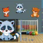 Wandbild Kinderzimmer Kinderzimmer Wandbild Kinderzimmer Waschbr 40 Cm Wandbilder Wohnzimmer Regal Weiß Schlafzimmer Regale Sofa