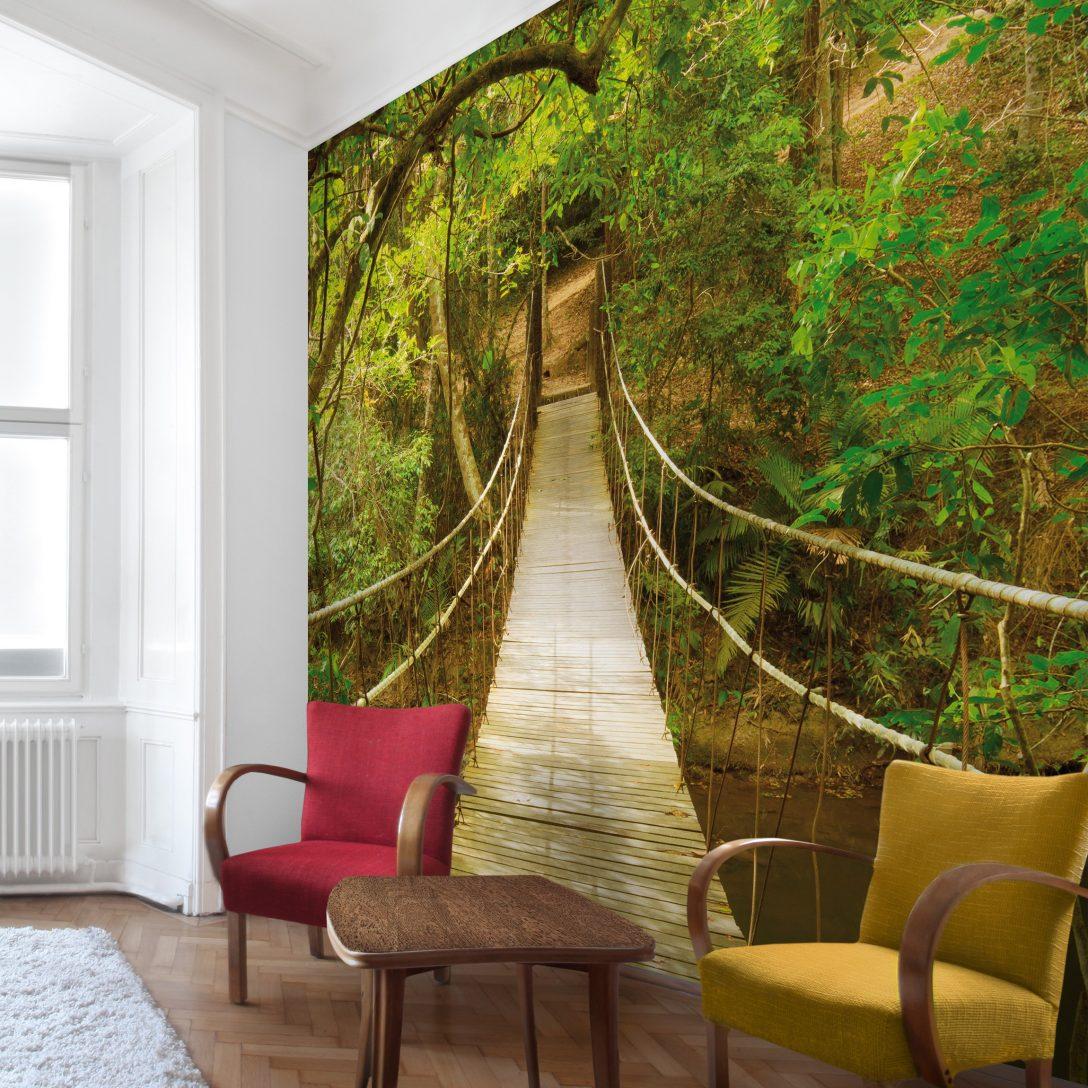 Large Size of 3d Fototapete Wald Dschungelbrcke Vliestapete Quadrat Küche Fenster Wohnzimmer Fototapeten Schlafzimmer Wohnzimmer 3d Fototapete