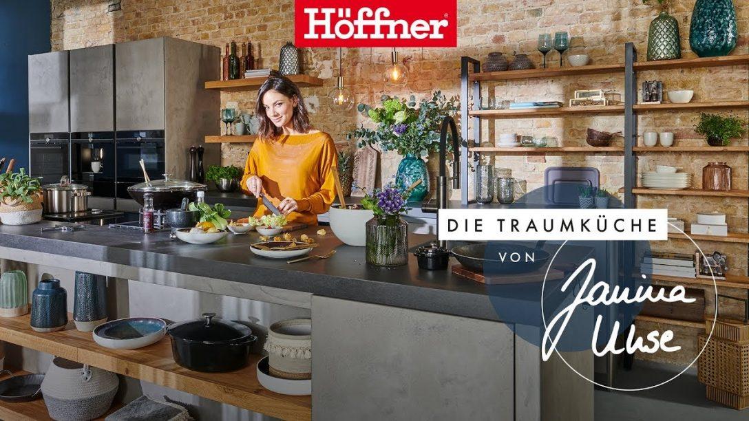 Large Size of Höffner Küchen Hffner Traumkche Von Janina Uhse Youtube Big Sofa Regal Wohnzimmer Höffner Küchen
