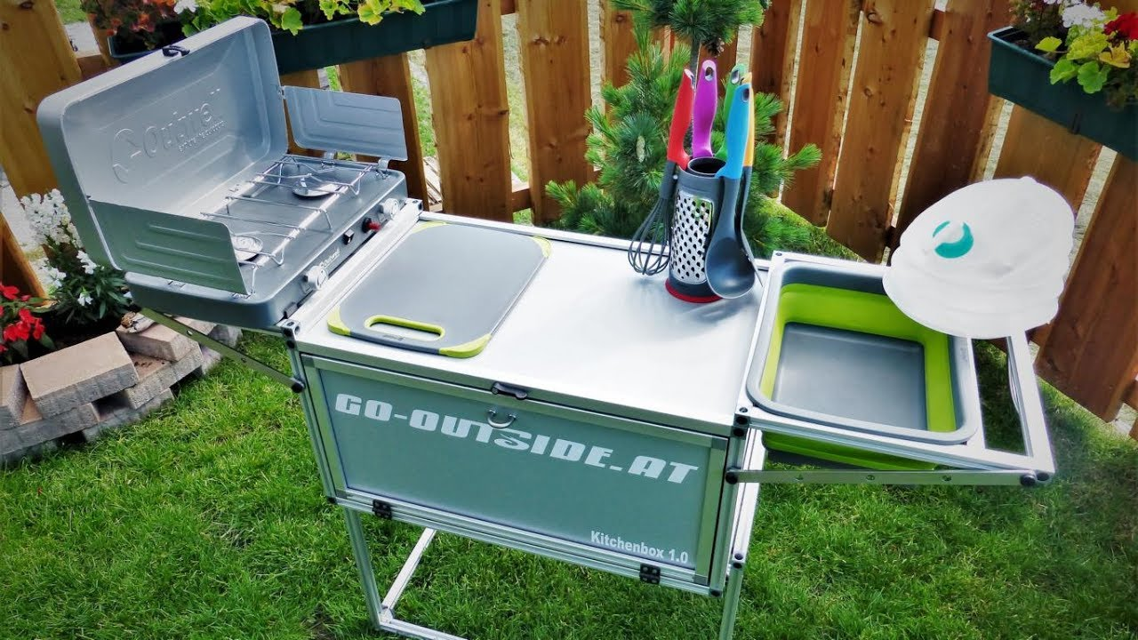 Full Size of Mobile Outdoor Küche Kitchenbo10 Camping Und Kche Youtube Fliesenspiegel Glas Weiße Einlegeböden Betonoptik Mischbatterie Tresen Deckenleuchten Modulküche Wohnzimmer Mobile Outdoor Küche