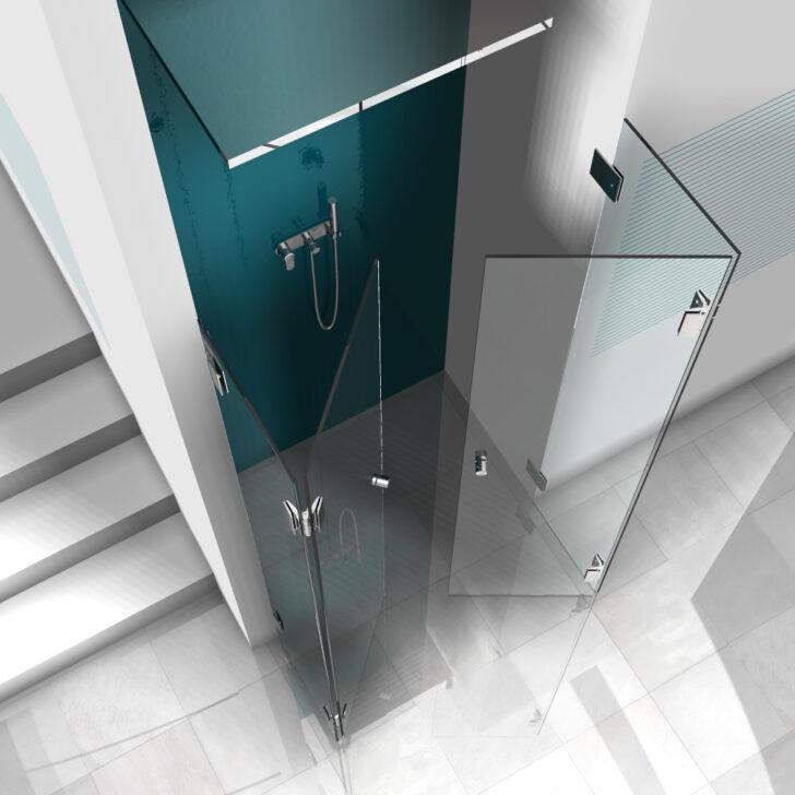 Medium Size of Glastür Dusche U Und Frmige Duschabtrennungen Aus Glas Mit Hochwertigen Hängeschrank Küche Glastüren Barrierefreie Haltegriff Bodengleiche Einbauen Hüppe Dusche Glastür Dusche