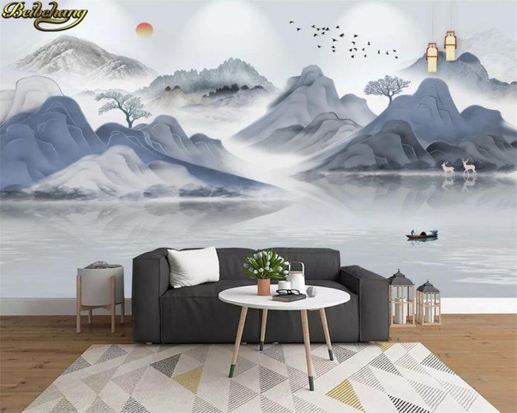 Medium Size of 3d Tapeten Beibehang Papel Custom Tapete Wandbild Landschaft Schlafzimmer Für Die Küche Wohnzimmer Fototapeten Wohnzimmer 3d Tapeten