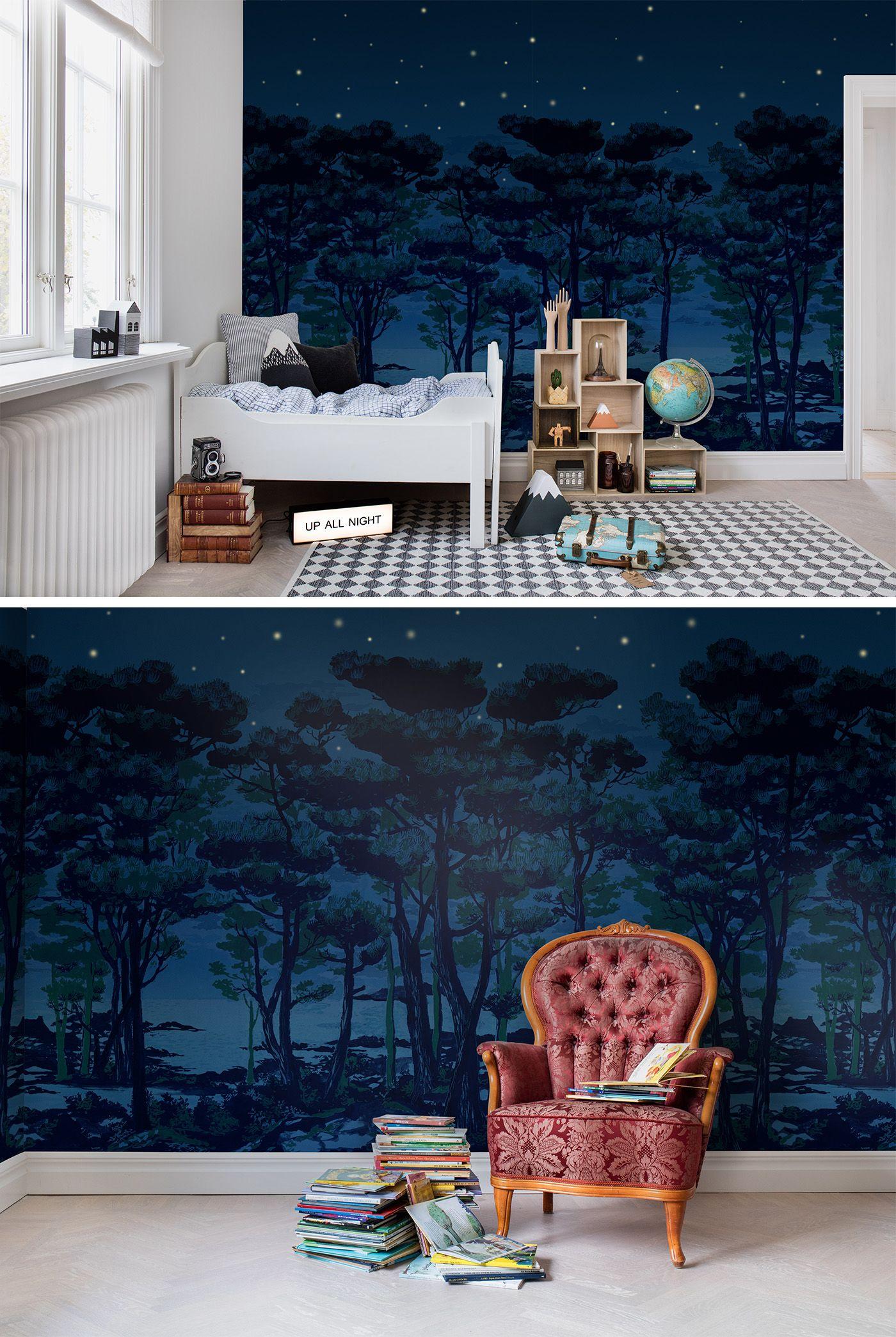Full Size of The Enchanted Forest In 2020 Kinderzimmer Tapete Fürstenhof Bad Griesbach Spiegelschrank Für Regal Kleidung Boden Badezimmer Moderne Bilder Fürs Wohnzimmer Kinderzimmer Tapeten Für Kinderzimmer