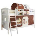 Piraten Kinderzimmer Kinderzimmer Piraten Kinderzimmer Etagenbett In Wei Mit Stoff Ausstattung Regal Weiß Regale Sofa