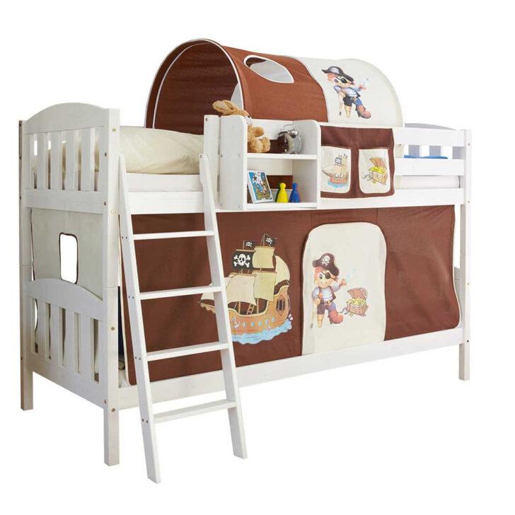 Medium Size of Piraten Kinderzimmer Etagenbett In Wei Mit Stoff Ausstattung Regal Weiß Regale Sofa Kinderzimmer Piraten Kinderzimmer