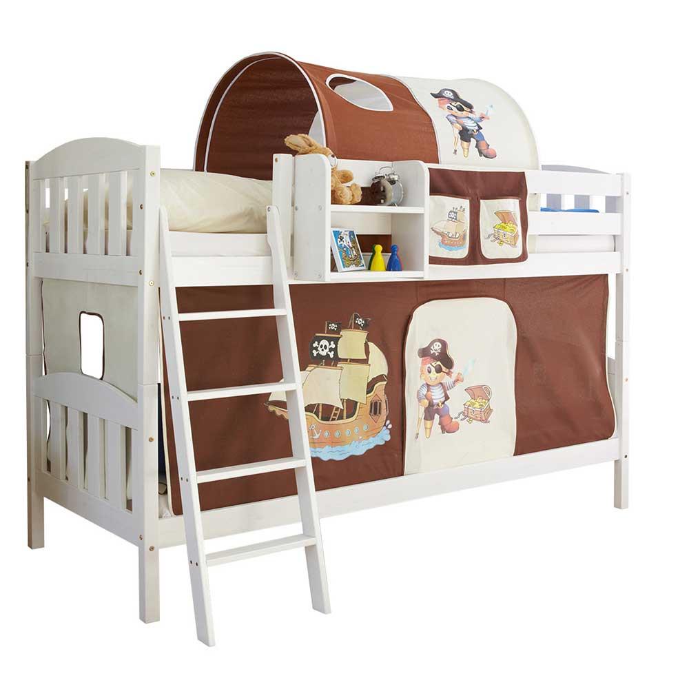Full Size of Piraten Kinderzimmer Etagenbett In Wei Mit Stoff Ausstattung Regal Weiß Regale Sofa Kinderzimmer Piraten Kinderzimmer