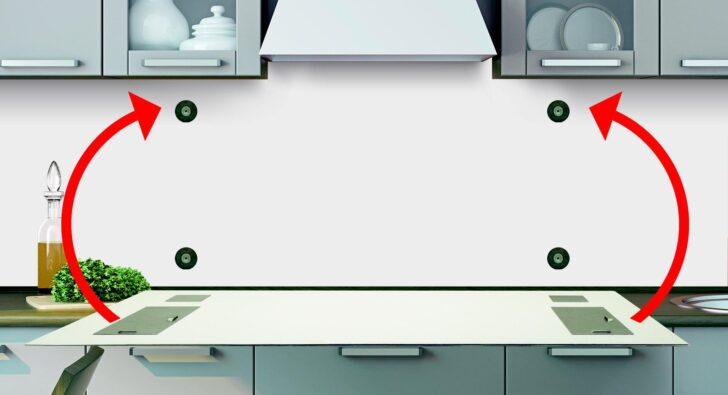 Medium Size of Rückwand Küche Anleitung Fachgerechte Befestigung Kchenrckwand Frag Mutti Salamander Schreinerküche Schwingtür Rosa Wandverkleidung Hochglanz Günstig Wohnzimmer Rückwand Küche