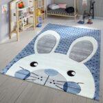 Teppiche Kinderzimmer Teppich Modern Hase Blau Teppichmax Regal Wohnzimmer Sofa Regale Weiß Kinderzimmer Teppiche Kinderzimmer
