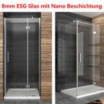 Duschkabine Duschabtrennung 8mm Nano Glas Duschwand Duschtr Mit Dusche Bodengleich Eckeinstieg Antirutschmatte Glaswand Bodenebene Nischentür Glasabtrennung Dusche Glaswand Dusche
