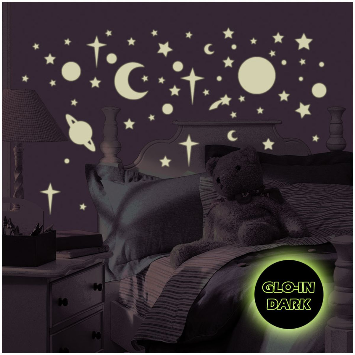 Full Size of Sternenhimmel Kinderzimmer Leuchtender Wandsticker Von Roommates Regal Weiß Regale Sofa Kinderzimmer Sternenhimmel Kinderzimmer