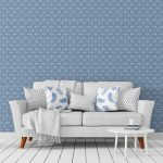 Florale Ornamenttapete Damast Muster Klassisch In Blau Design Schlafzimmer Günstig Komplette Sessel Komplett Massivholz Led Deckenleuchte Kommoden Wohnzimmer Schlafzimmer Tapeten
