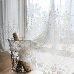 Gardinen Gardine Wei Rose Design Led Deckenleuchte Schrank Hängeschrank Tapete Küche Wohnwand Sessel Fenster Wohnzimmer Wohnzimmer Gardinen Modern