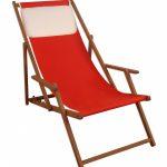 Gartenliege Klappbar Sonnenliege Deckchair Rot Liegestuhl Klappbare Holz Bett Ausklappbar Ausklappbares Wohnzimmer Gartenliege Klappbar