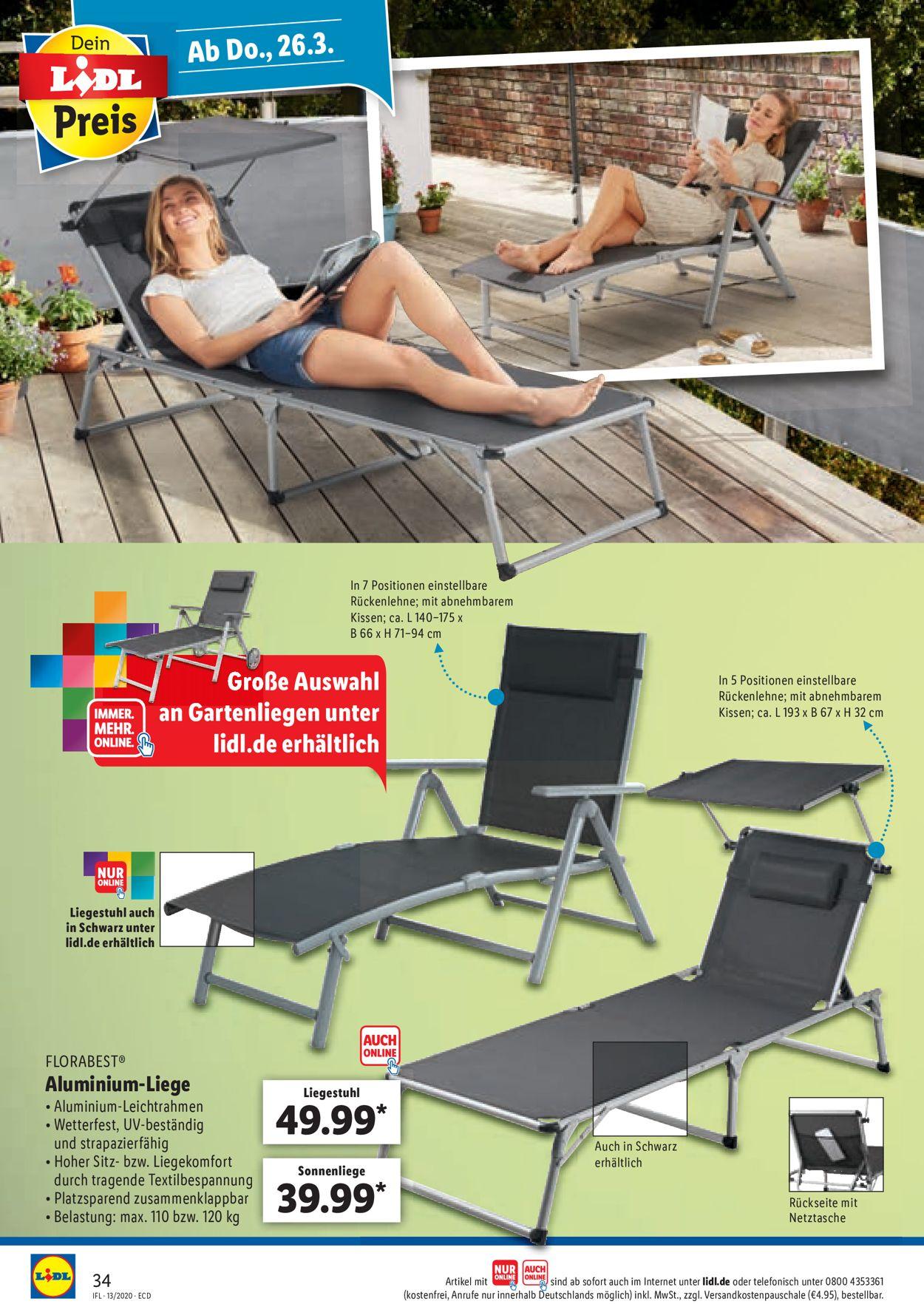 Full Size of Lidl Aktueller Prospekt 2303 28032020 34 Jedewoche Rabattede Relaxsessel Garten Aldi Wohnzimmer Sonnenliege Aldi