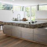 Kche Aus Stein Und Stahl Werkhaus Kchen Designkchen Küchen Regal Wohnzimmer Küchen