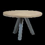 Esstisch Rund Tisch 120x120 Cm Platte Mangoholz Beine Metall Antiksilber Weiß Ausziehbar Massivholz Holz Massiv Industrial Oval Kleiner Esstische Lampe Runder Esstische Esstisch Rund