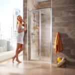 Nischentr Vigo Kleine Bäder Mit Dusche Wand Nischentür Badewanne Tür Und Barrierefreie Mischbatterie Einhebelmischer Koralle Ebenerdige Glasabtrennung Dusche Nischentür Dusche