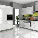 Küchen Wohnzimmer Küchen Kche Vario I 240 160 Cm Kchenzeile In Hochglanz Wei Regal