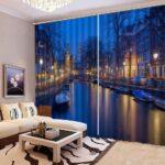 Vorhänge Wohnzimmer Vorhang Dreamy City Night 3d Landschaft Vorhnge Led Teppiche Schlafzimmer Komplett Lampe Fürs Liege Stehlampe Wandtattoos Indirekte Wohnzimmer Vorhänge Wohnzimmer